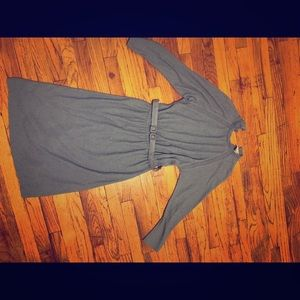 Vintage midi dress beautiful blue