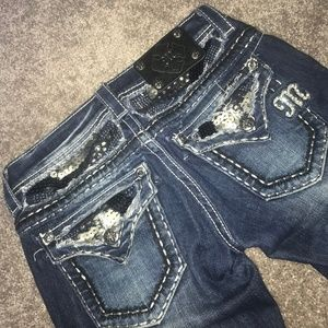 size 25 Miss Me straight jeans