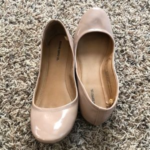 Mossimo nude patent flats. Size 9