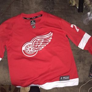 Red Wings Authentic Youth Hockey Jersey