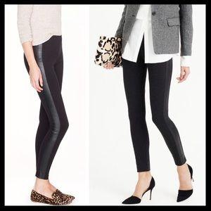 j. crew // leather tuxedo stripe black pixie pants