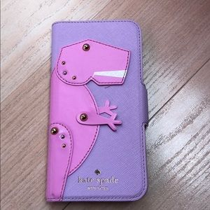 Kate spade Dino Appliqué Folio iPhone 7/8 Case