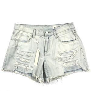 Blank NYC Tomboy Denim Shorts Ripped Raw Hem