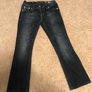 Miss Me bootcut sequin pocket jeans size 27