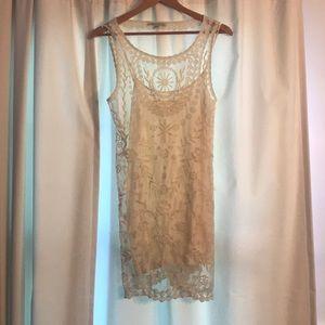 White Sheath Lace Dress