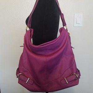JustFab purple pink tote bag