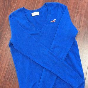 Large cobalt blue Hollister sweater
