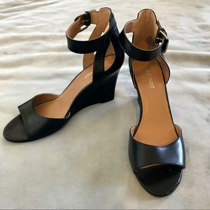 Peep Toe Ankle Strap Wedges