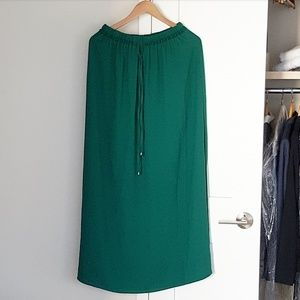 GENTLY USED drawstring maxi skirt