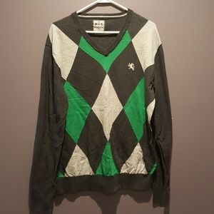 Express Argyle Sweater