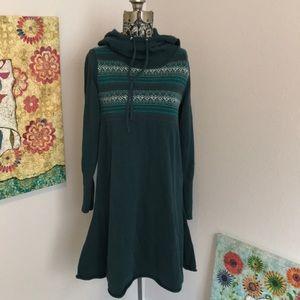 Prana Long Sleeve Hooded  Sweater Dress
