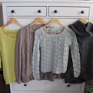 Loft Sweater Bundle (4 sweaters)