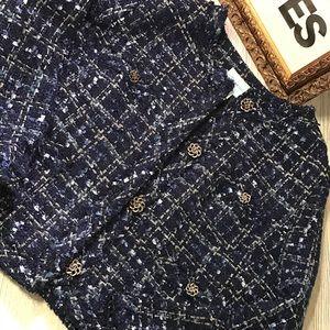 Tweed/ Boucle  Fringe Jacket
