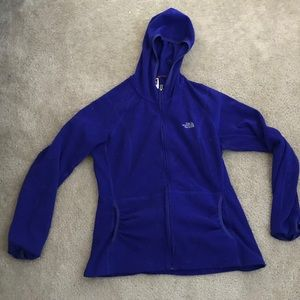 Purple The North Face hoodie zip up size XL