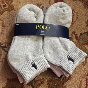 6 pairs of new boys polo Ralph Lauren socks