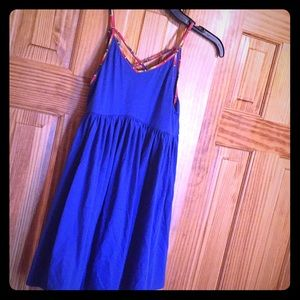 Girls med size 8-10 Poli Ralph Lauren blue dress