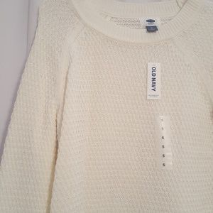 NWT Old Navy Ivory Sweater Small