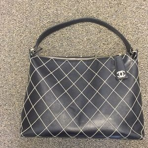 Chanel wild stitch hobo. Black