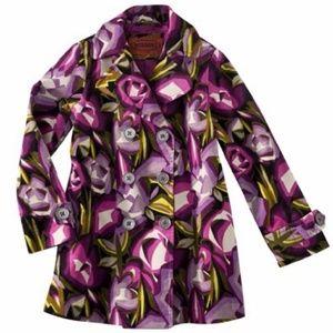 Missoni - Floral Velvet Trench Coat - NWT