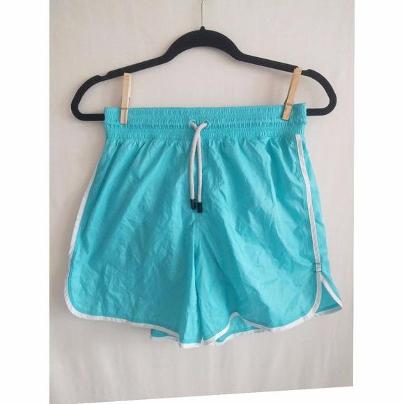 LULULEMON Mens Running Shorts Aqua Drawstring NWOT