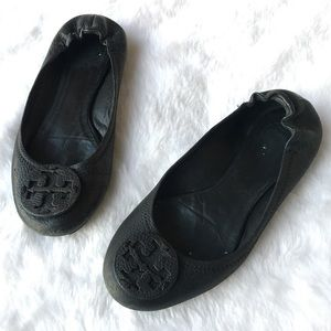 Tory Burch Reva Ballet Flat Pebbled Leather