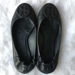 Tory Burch Reva Ballet Flat Pebbled Leather