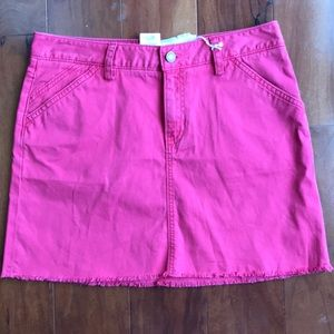 NWT GAP JEANS MINI SKIRT, RED/PINK, SIZE 8