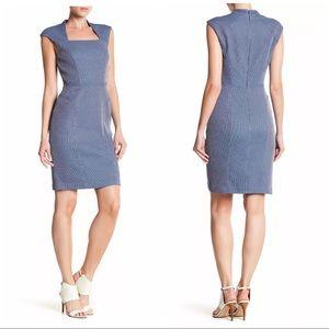 Adrianna Papaell Size 14 Square Neck Sheath Dress
