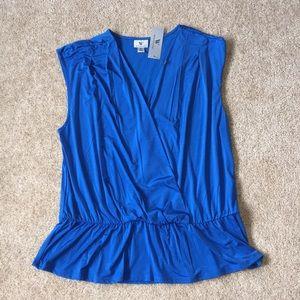 NWT XL Worthington blue sleeveless shirt