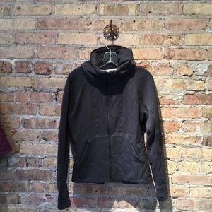 Lululemon gray zip up sweatshirt jacket sz 8 56352