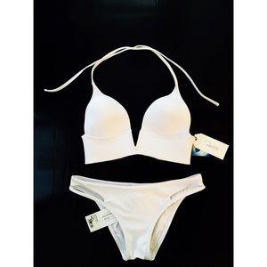 NWT Peixota White Two Piece Bathing Suit