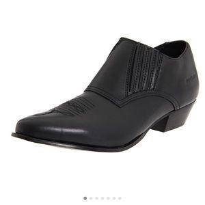 EUC Durango Slip On Ankle Cowboy Boot Real Leather