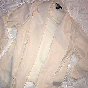 Forever 21 cream Colored sheer Long Sleeve Shirt