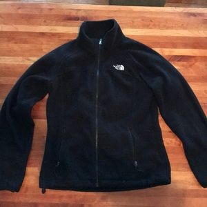 Black north face fleece full zip