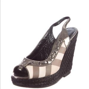 Burberry wedges shoes