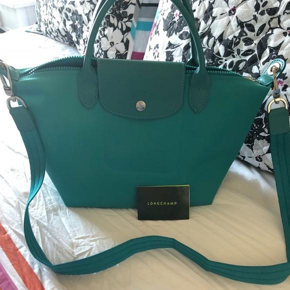 beae7b622c01 Longchamp Handbags - NWOT Longchamp Le Pliage Neo Small- Turquoise