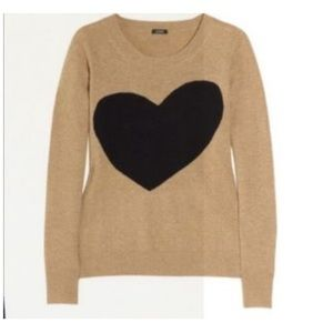 J. Crew Heart Sweater
