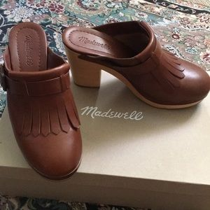 Madewell Fringed Clogs