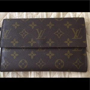 Vintage authentic Louis Vuitton monogram wallet