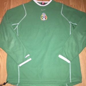 NIKE Mexico soccer fleece pullover jacket medium