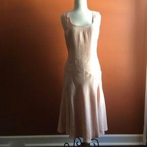 LAUREN RALPH LAUREN Light Pink Linen Dress Size 10