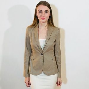 ZARA BASIC SOFT BLAZER TAN JACKET EUC #L53