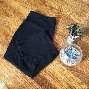 Black Crop Cutout Leggings