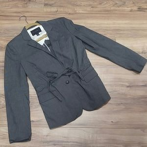 Banana Republic size 8 gray cinching blazer