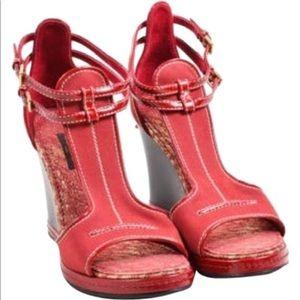 Louis Vitton wedges shoes