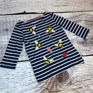 🐝🌸 mini Boden Bee/Flower Shirt