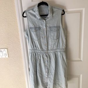 GAP Sleeveless Denim Dress