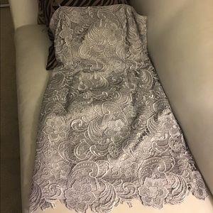 Adrianna papal silver dress