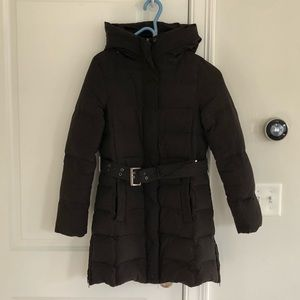 Zara Basic belted puffer winter coats sz S
