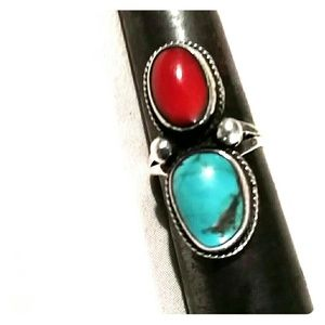 💟 SALE 💟$54💟Coral and Turquoise old pawn